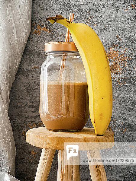 Bananenmilch mit Kakao