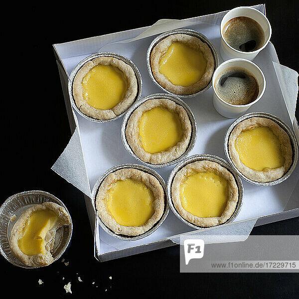 Chinesische Tarteletts mit Eiercreme