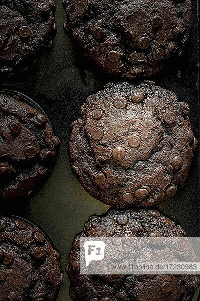 Schoko-Muffins mit Schokodrops
