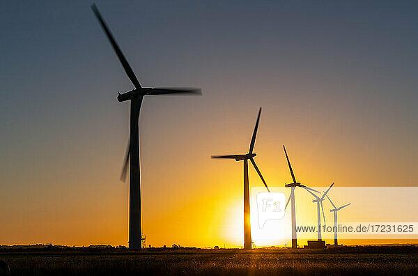 Wind turbine energy generators on wind farm
