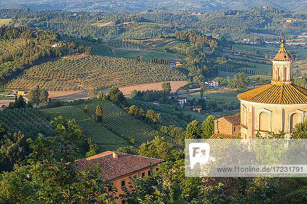 Prato del Duomo and countryside around San Miniato  Tuscany