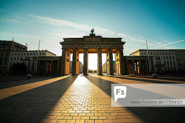 Low angle view of Brandenburg Gate against sky  Berlin