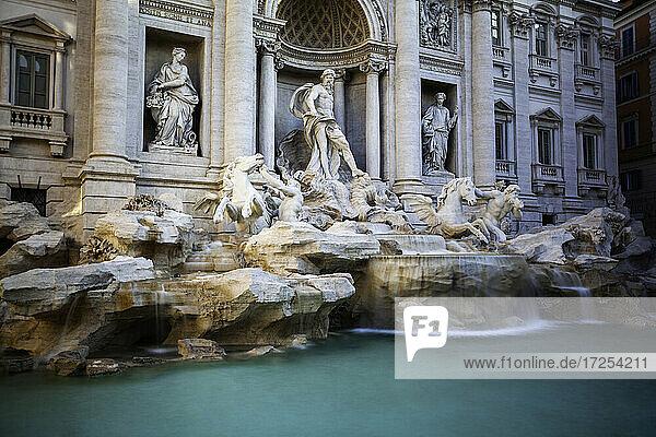 View of Trevi Fountain in Piazza di Trevi  Rome