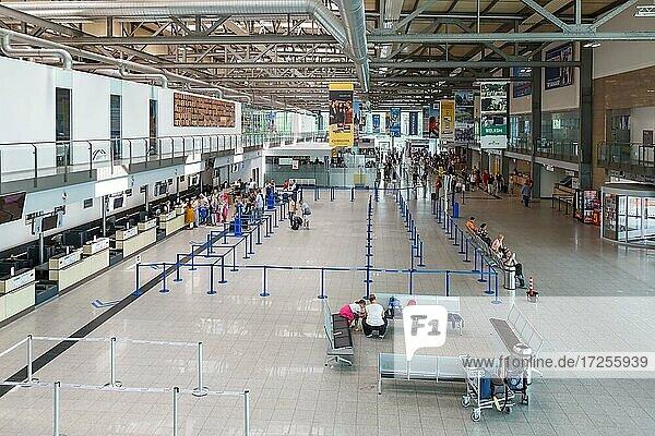 Terminal of the airport Niederrhein Weeze  Germany  Europe