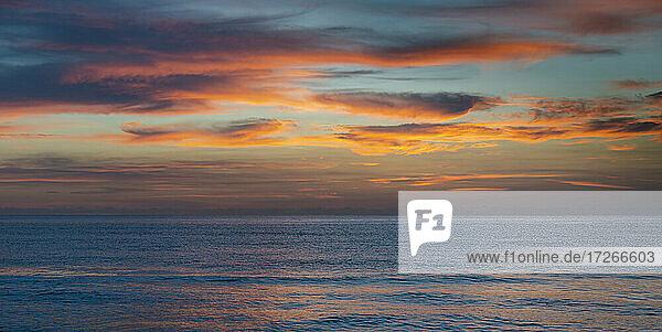 USA  Florida  Boca Raton  Sonnenuntergang Himmel über Meer