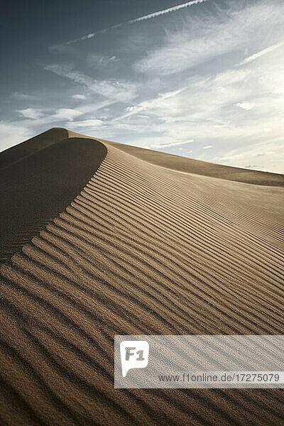 Natural pattern on Cadiz Dunes at Mojave Desert  Southern California  USA