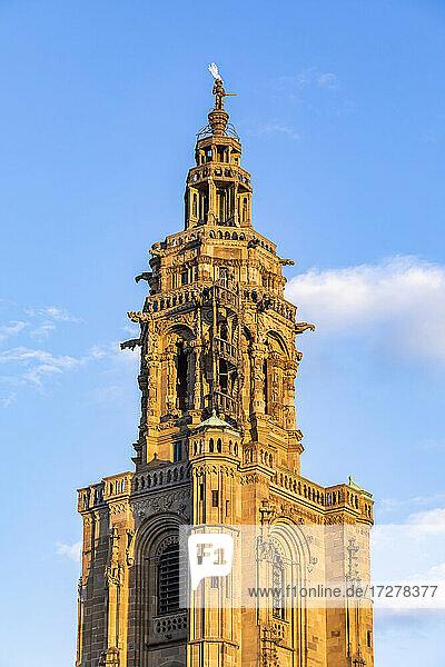 Germany  Baden-Wurttemberg  Heilbronn  Gothic bell tower of Saint Kilians Church