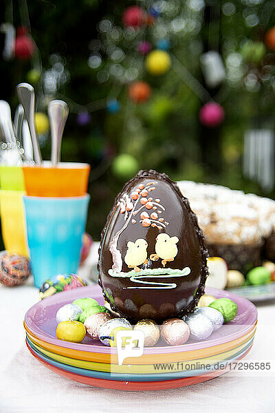 Italy  Turin  Colorful chocolate Eater eggs