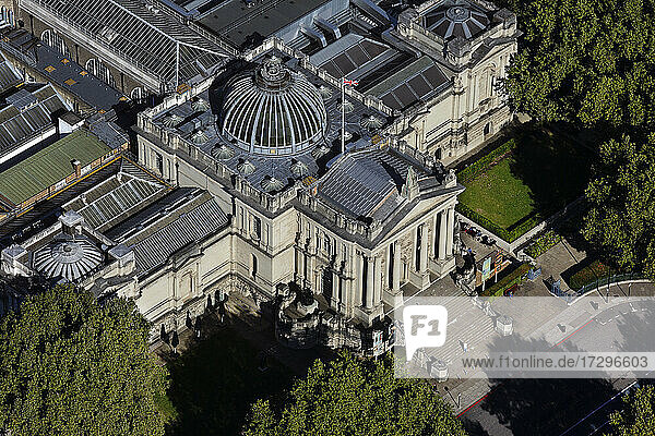 UK  London  Aerial view of Tate Britain in Millbank