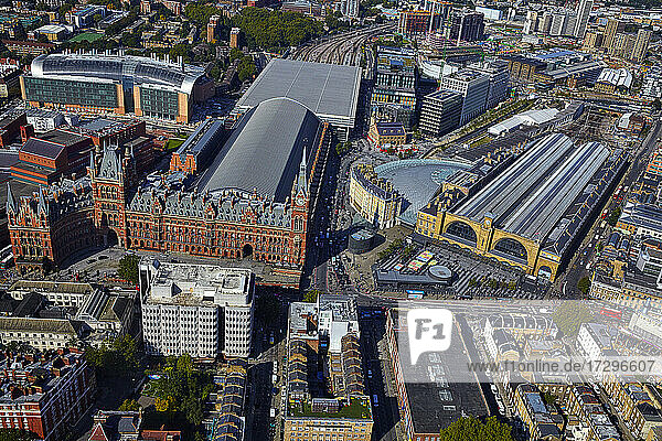 UK  London  St Pancras and Kings Cross railway stations