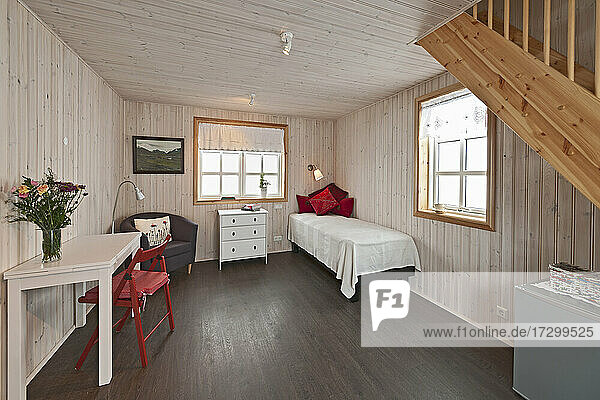 interior of classic holiday cottage in Iceland