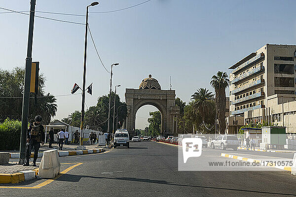 Entrance to the Green Zone  Baghdad  Iraq  Middle East