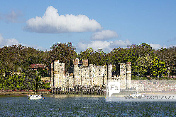 Upnor Castle on the west bank of the River Medway  Upnor  near Chatham  Kent  England  United Kingdom  Europe