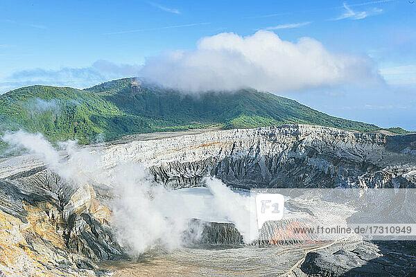 Poas Volcano  Poas National Park  Costa Rica  Central America