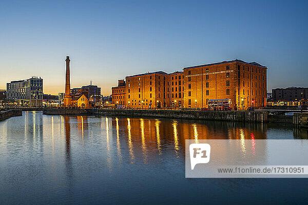 Merseyside Maritime Museum and Pump House at the Albert Dock  UNESCO World Heritage Site  Liverpool  Merseyside  England  United Kingdom  Europe