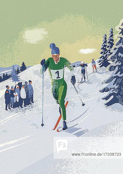 Skilanglauf-Wettbewerb