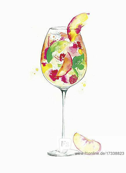 Glas tropischer Fruchtcocktail