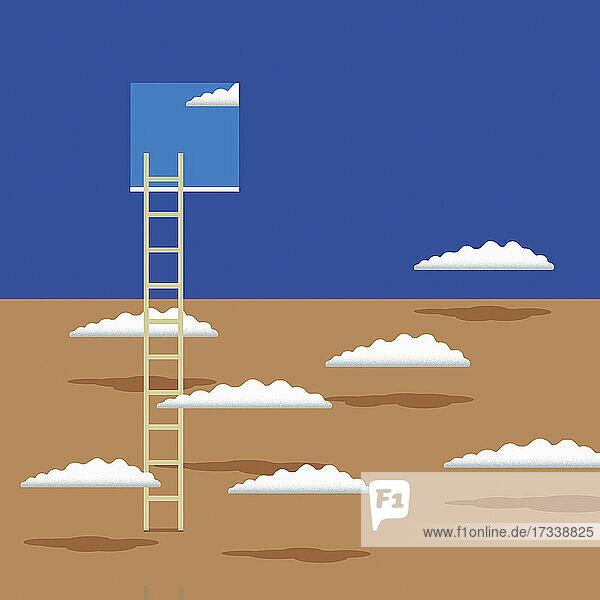 Leiter  die zum Fenster im Himmel führt