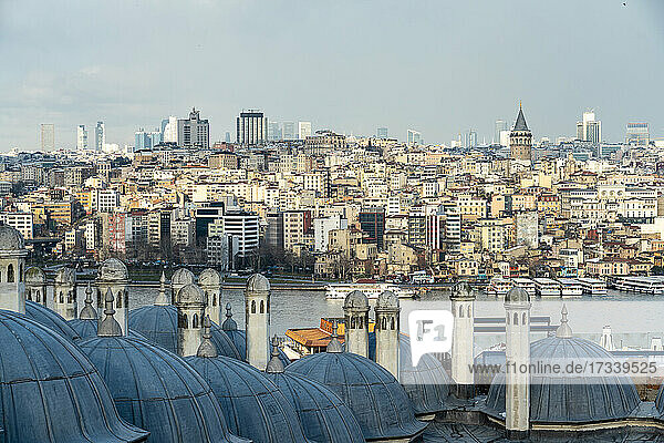 Turkey  Istanbul  Cityscape of European Side of Istanbul