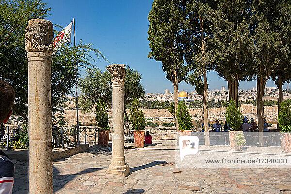 Asien_Naher Osten_Israel_Jerusalem_Alte Stadt_ Blick von der Dominus Flevit Kirche
