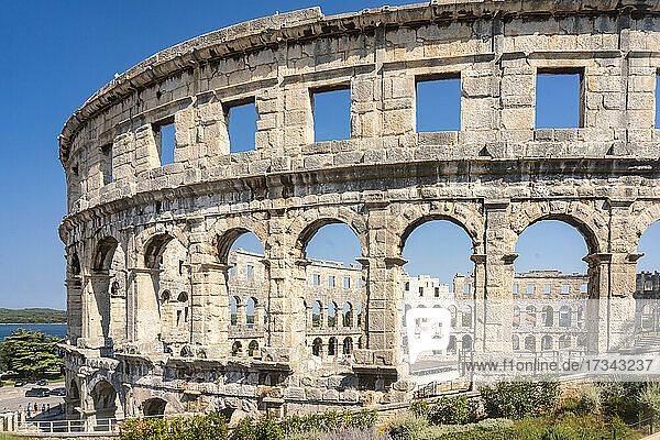 Croatia  Istria  Pula  Remains of roman amphitheater