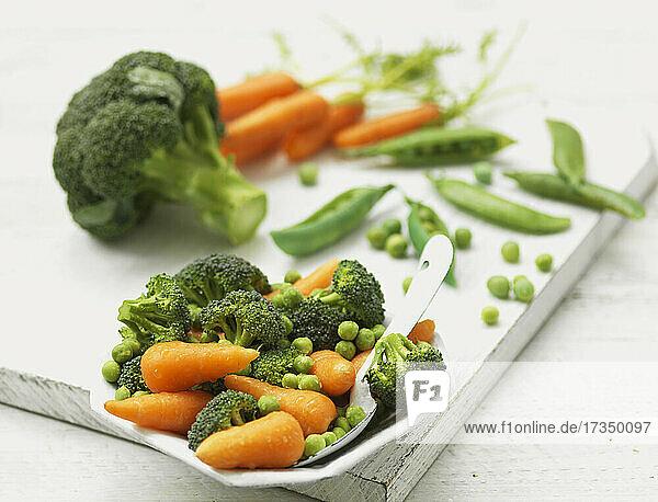 Gemischtes blanchiertes Gemüse