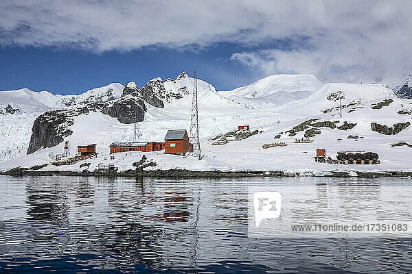 The Argentine Research Station Base Brown  Paradise Bay  Antarctica  Polar Regions