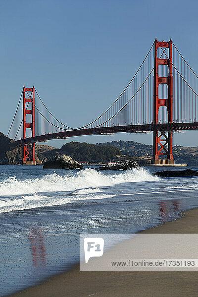 Golden Gate Bridge  San Francisco Bay  California  United States of America  North America