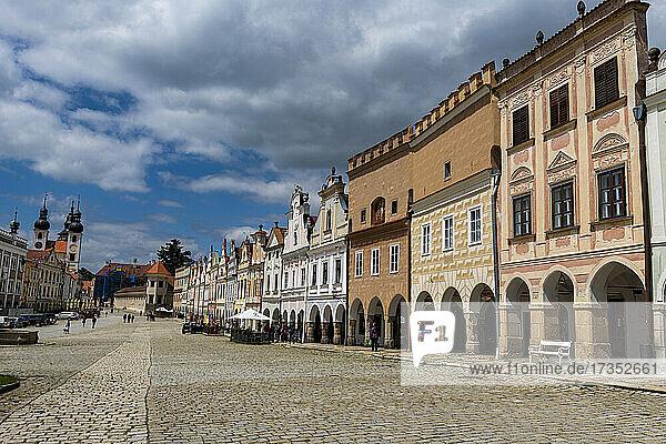 The historic center of Telc  UNESCO World Heritage Site  South Moravia  Czech Republic  Europe