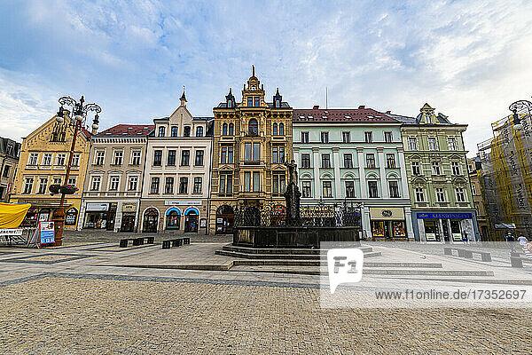 Town square  Liberec  Czech Republic  Europe