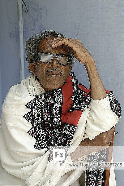 Todas elder  one of the great aborginal tribes of India  Ooty; Udhagamandalam  Tamil Nadu