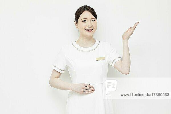 Japanische Kosmetikerin Porträt