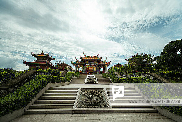 Blick auf den Tin-Hau-Tempel in Macao Blick auf den Tin-Hau-Tempel in Macao