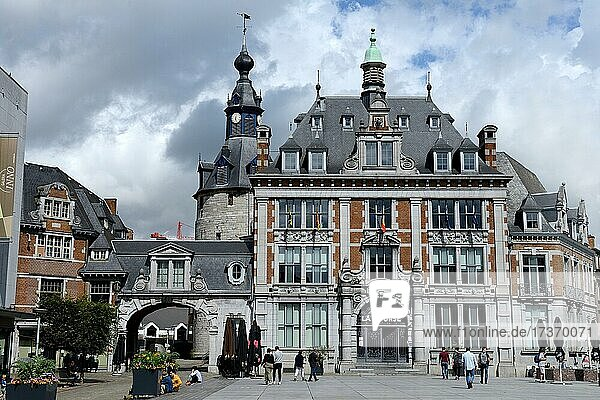 Old Stock Exchange and Belfry of Namur  Wallonia  Wallonia  Belgium  Europe Old Stock Exchange and Belfry of Namur, Wallonia, Wallonia, Belgium, Europe
