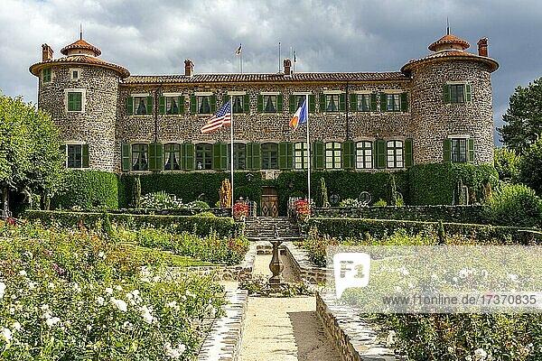 Chavaniac Lafayette castle  native village of Marquis de Lafayette  Haute-Loire department  Auvergne-Rhone-Alpes  France  Europe