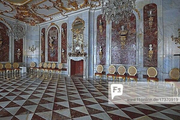 Jaspissaal  Neue Kammern  Schloss Sanssouci  Potsdam  Brandenburg  Deutschland  Europa Jaspissaal, Neue Kammern, Schloss Sanssouci, Potsdam, Brandenburg, Deutschland, Europa