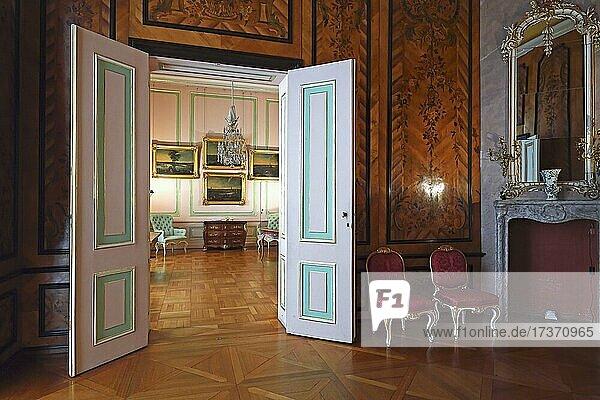 Guest Room  New Chambers  Sanssouci Palace  Potsdam  Brandenburg  Germany  Europe