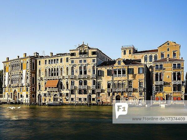 Historic house facade on the Grand Canal  Venice  Veneto  Italy  Europe