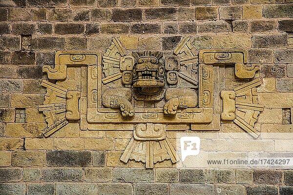Detail of the façade of Temple 21  Sculpture Museum  Maya City  Copan  Honduras  Central America