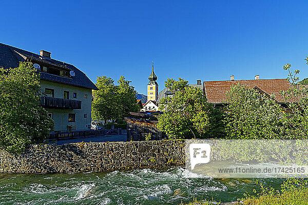 Ortsansicht  Fluß  Talbach