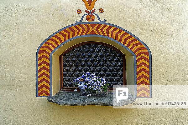 Fenster  Blumenschale