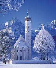 10001608, Allgäu, Bayern, Deutschland, Europa, Kirche St. Koloman, Winter