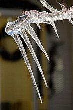 Ice-Zyklen Form aufgrund einer Temperaturen über Einfrieren Kennzeichen, das Eis dann schmilzt gehen refreezes