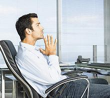 Geschäftsmann in Office eine Pause