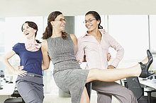 Geschäftsfrau,tanzen,Büro