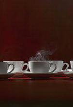 Verschiedene Tassen Kaffee, Nahaufnahme