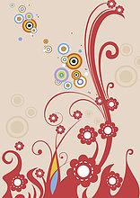 Illustration, Blumenmuster