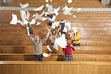 Papier ,werfen ,Klassenzimmer ,Student ,Universität