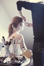 Make-up und Schminkpinsel