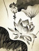 Frosch steigt auf eine Wasserlilie